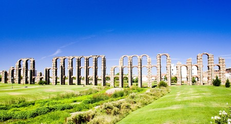 extremadura: Aqueduct of Los Milagros, Merida, Badajoz Province, Extremadura, Spain