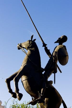 don quixote: statue of Don Quijote, Campo de Criptana, Castile-La Mancha, Spain