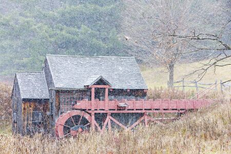 grist: Grist mill vicino Guilhall, Vermont, USA