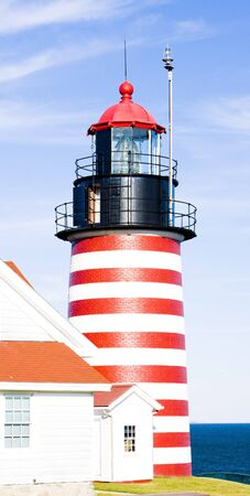 capes: West Quoddy Head Lighthouse, Maine, USA