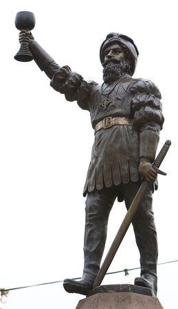 hessen: statue, R�desheim am Rhein, Hessen, Germany
