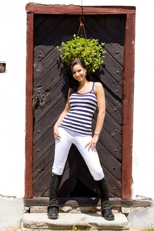 dark haired woman: equestrian