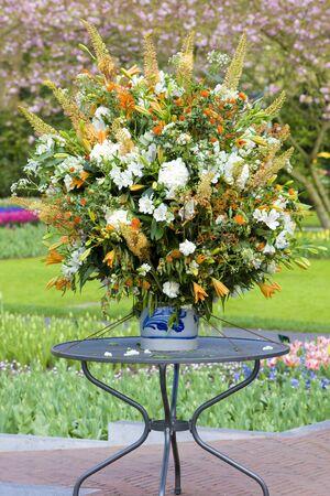 lisse: bloem boeket, keuken Hof tuinen, Lisse, Nederland