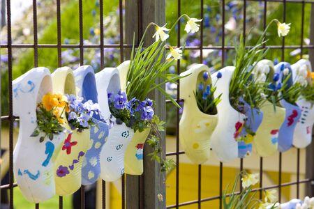 bodegones: Zuecos, jardines de Keukenhof Lisse, Holanda