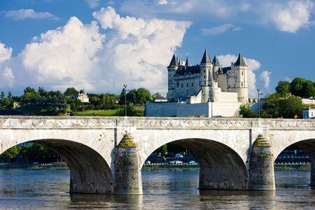 loire: Saumur, Pays-de-la-Loire, France Stock Photo