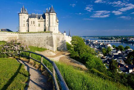 buidings: Saumur, Pays-de-la-Loire, France Stock Photo