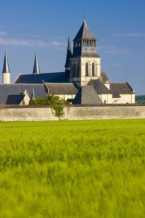abbeys: Fontevraud Abbey, Loire Valley, France Stock Photo