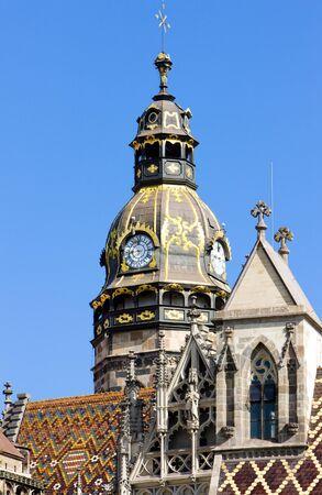 gothic build: detail of Cathedral of Saint Elizabeth, Kosice, Slovakia