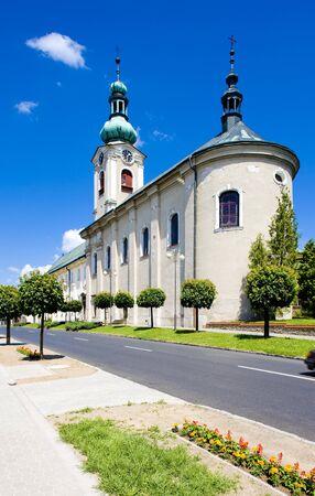church in Nove Mesto nad Metuji, Czech Republic Reklamní fotografie