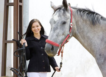 equestrian with horse Stock Photo - 7368262