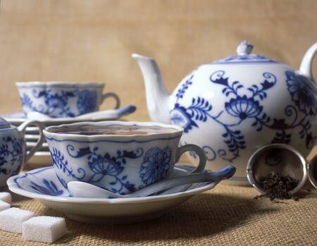 china cuisine: tea set Stock Photo