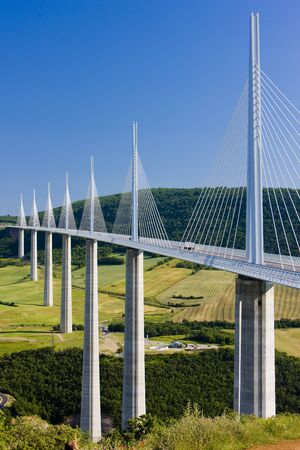 bridge: Millau Viaduct, Aveyron Département, France