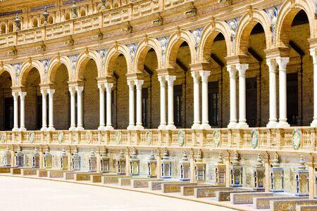 gothic build: Spanish Square (Plaza de Espana), Seville, Andalusia, Spain