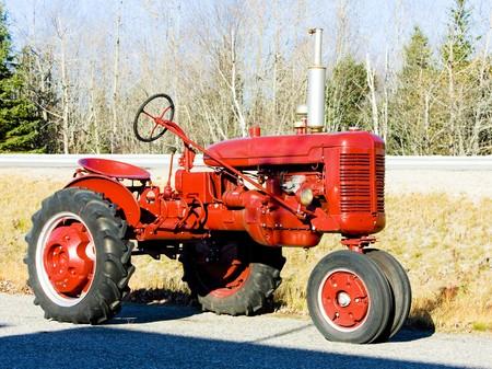 farm implements: tractor near Jonesboro, Maine, USA