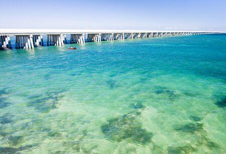 vastness: road bridge connecting Florida Keys, Florida, USA