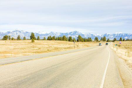 rocky mountains colorado: road transport, Rocky Mountains, Colorado, USA