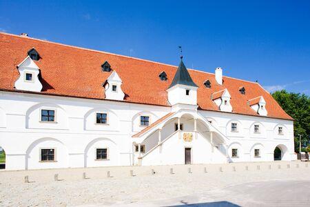 znojmo region: renaissance water mill, Slup, Czech Republic Stock Photo