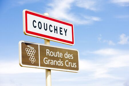 crus: wine route, Couchey, Burgundy, France