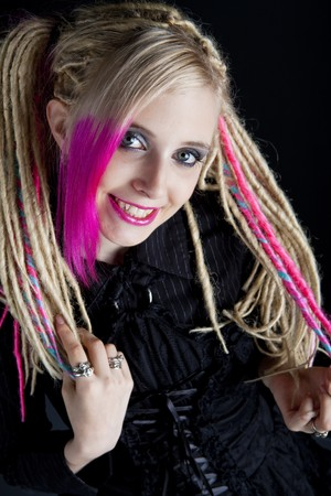 portrait of young woman with dreadlocks photo