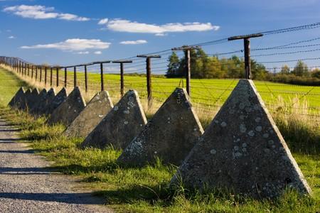 demarcation: remains of iron curtain, Cizov, Czech Republic