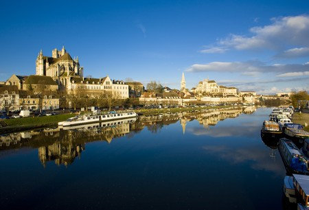 world locations: Auxerre, Burgundy, France