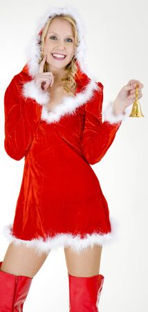 Santa Claus with a bell photo