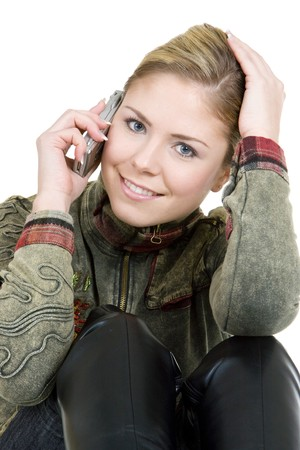 portrait of calling woman Stock Photo - 7502584