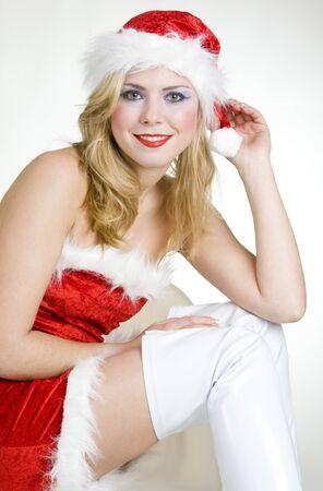 woman's portrait - Santa Claus Stock Photo - 7502534