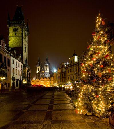 r�publique  tch�que: Place de la ville ancienne � No�l, Prague, R�publique tch�que
