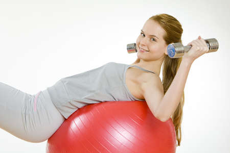 exercising woman photo