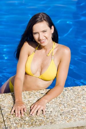 woman in swimming pool Stock Photo - 7530244
