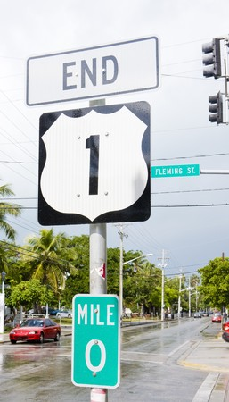 mile: end of the road number 1, Key West, Florida, USA