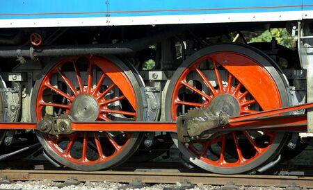 detail of steam locomotive called Parrot (477.043), depot Luzna u Rakovnika, Czech Republic photo