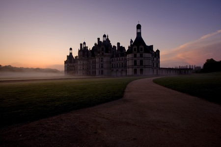 auroral: Chambord Castle at sunrise, Loir-et-Cher, Centre, France