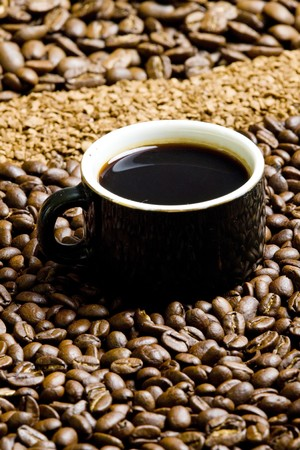 instant coffee: cup of coffee Stock Photo