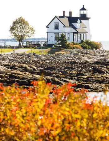 prospect: phare, Prospect Harbour Point Light, Maine, USA