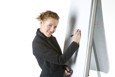 businesswoman at whiteboard Stock Photo - 7640770
