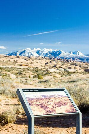 np: La Sal Mountains, Arches NP, Utah, USA