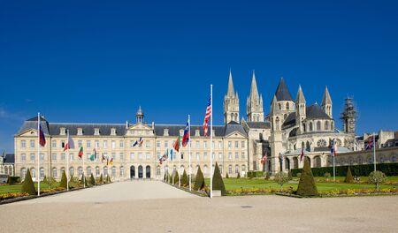 hommes: Iglesia de San ?tienne, L?Abbaye Aux Hommes, Normand�a, Francia  Foto de archivo