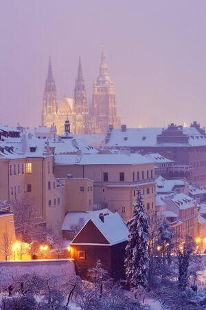 Hradcany in winter, Prague, Czech Republic photo