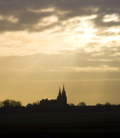 gothic build: basilica Notre-Dame-de-l�Eoine, LEpine, Champagne, France