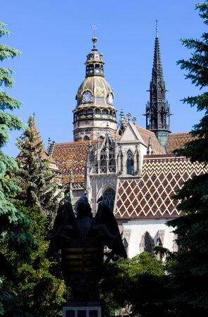 gothic build: Cathedral of Saint Elizabeth, Kosice, Slovakia