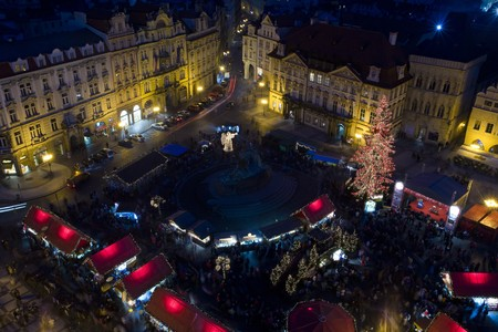 staromestke namesti: Old Town Square at Christmas time, Prague, Czech Republic