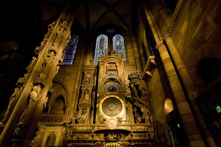 unstoppable: astronomical clock in Cathedral Notre Dame, Strasbourg, Alsace, France