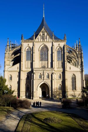 gothic build: Cathedral of St. Barbara, Kutna Hora, Czech Republic