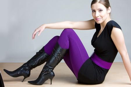 woman sitting on the floor photo