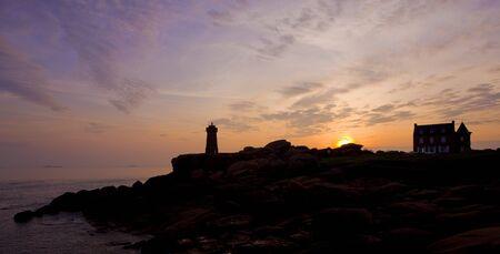 Pors Kamor lighthouse, Ploumanac'h, Brittany, France Stock Photo - 7976314