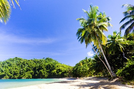 the silence of the world: Englishmans Bay, Tobago Stock Photo