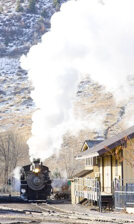 Durango   Silverton Narrow Gauge Railroad, Colorado, USA Stock Photo - 7976456