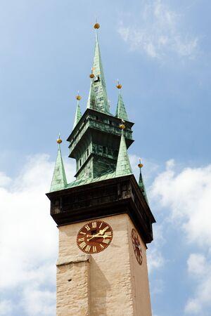 znojemsko: detail of town hall, Znojmo, Czech Republic